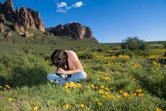 Wildflower photographer royalty free stock photos