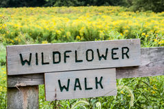 Wildflower Walk Sign Royalty Free Stock Photo