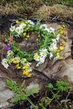 Wildflower wreath Stock Photo