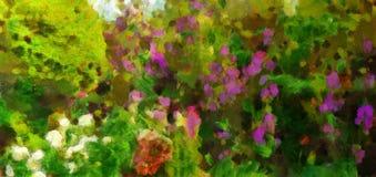 Wildflowers картины маслом на лете Стоковое фото RF