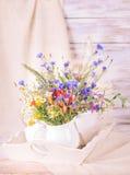 Wildflowers in bottiglie Fotografia Stock Libera da Diritti
