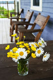 Wildflowers bouquet at cottage stock image