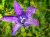 Wildflowers da pintura a óleo em um verão Fotografia de Stock Royalty Free