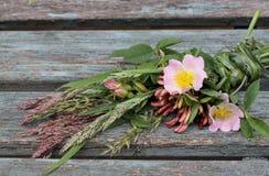 Wildflowers de británicos del ramo Imagen de archivo libre de regalías