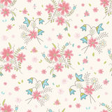 Wildflowers de cru sans joint Photographie stock