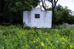 Wildflowers de la corte y del verano de balonmano - centro turístico abandonado en las montañas de Catskill Imagen de archivo libre de regalías