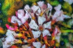 Wildflowers della pittura a olio su un'estate Immagini Stock Libere da Diritti