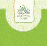 Wildflowers Design. Stock Image