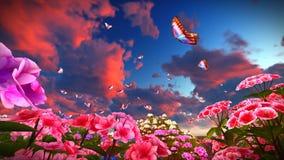 Wildflowers do verão na rendição do prado 3d Imagem de Stock Royalty Free