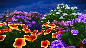 Wildflowers do verão na rendição do prado 3d Imagem de Stock