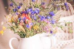 Wildflowers in jug Royalty Free Stock Image