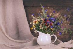 Wildflowers in jug Royalty Free Stock Photos