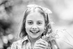 Wildflowers o i r r ευτυχή wildflowers λαβής παιδιών o στοκ εικόνες με δικαίωμα ελεύθερης χρήσης