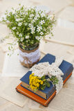 Wildflowers on the table. In vase Royalty Free Stock Image