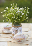 Wildflowers on the table. In vase Stock Photography