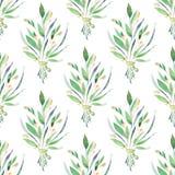 wildflowers Teste padrão sem emenda floral da aguarela Fotos de Stock