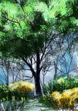 Wildflowers, timber - Stock Image Stock Photo