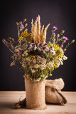Wildflowers in a vase Stock Photo