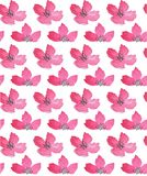 Wildflowers watercolor seamless pattern. Roses and leaves print stock illustration