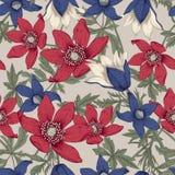 wildflowers Wektorowa ilustracja w rocznika stylu świąteczna pocztówka ilustracja wektor