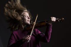 Wildhair und Violinist Lizenzfreies Stockfoto