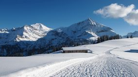 Wildhorn and Spitzhorn in winter Stock Images