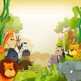 Wildlife African Animals Background Royalty Free Stock Image