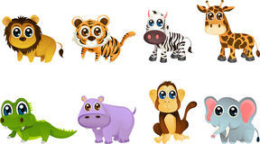 Wildlife animal cartoons royalty free illustration