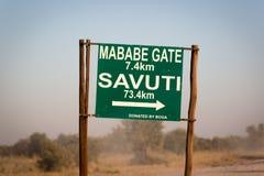 Wildlife in Botswana. Southern Africa Stock Photos