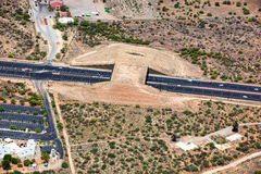 Wildlife Bridge. Aerial view of the Wildlife Bridge that spans State Route 77 near Tucson, Arizona Stock Image