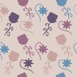 Wildlife Colored Flowers Background Stock Image