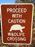 Wildlife Crossing sign at a state park in Naples, FL Royalty Free Stock Photo