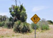 Wildlife Crossing Sign Stock Image