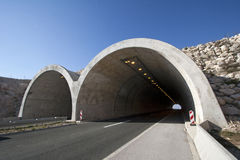 Wildlife Crossings. Tunnel on the highway A1 in the hinterland of town Split in Croatia Royalty Free Stock Photos