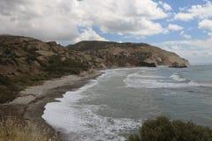 Wildlife Cyprus. View Aphrodite's Rock Royalty Free Stock Photos