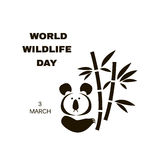 Wildlife Day5. World Wildlife Day  poster.Cute koala bear. Stencil for paper, plastic,  plotter. Vector illustration Royalty Free Stock Photos