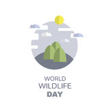 Wildlife Day14. World Wildlife Day poster in flat style isolated on white.Universal templates collection for trendy design. Vector illustration royalty free illustration