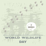 Wildlife Day. World Wildlife Day  poster. Vector illustration Stock Photos