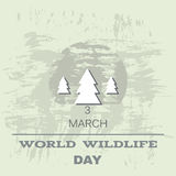 Wildlife Day. World Wildlife Day  poster. Vector illustration Stock Photography