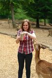 Wildlife feeding in a park Royalty Free Stock Photos