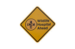 Wildlife hospital sign Stock Photo