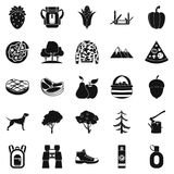 Wildlife icons set, simple style Royalty Free Stock Photos