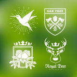Wildlife labels Royalty Free Stock Photography