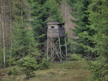 Wildlife observation point. South Bohemia Stock Image