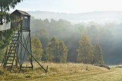 Wildlife observation point. South Bohemia, czech republic Stock Image