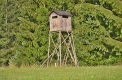Wildlife observation point. South Bohemia, czech republic Royalty Free Stock Photo