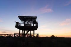 Wildlife observation point Stock Photo