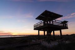 Wildlife observation point Stock Photos