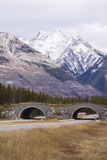 Wildlife overpass along Trans Canada highway Stock Photo
