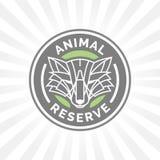 Wildlife park animal reserve icon emblem with wild fox symbol. Royalty Free Stock Photo